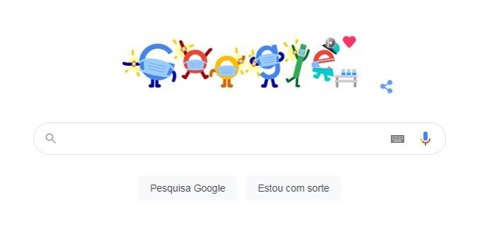Imagem de Doodle do Google ajuda a achar o posto de vacinação mais próximo